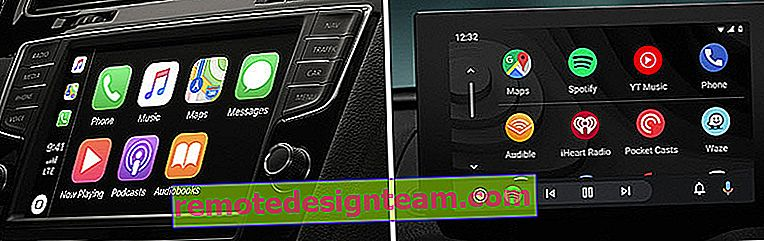 Collegamento del telefono all'auto tramite Apple CarPlay e Android Auto