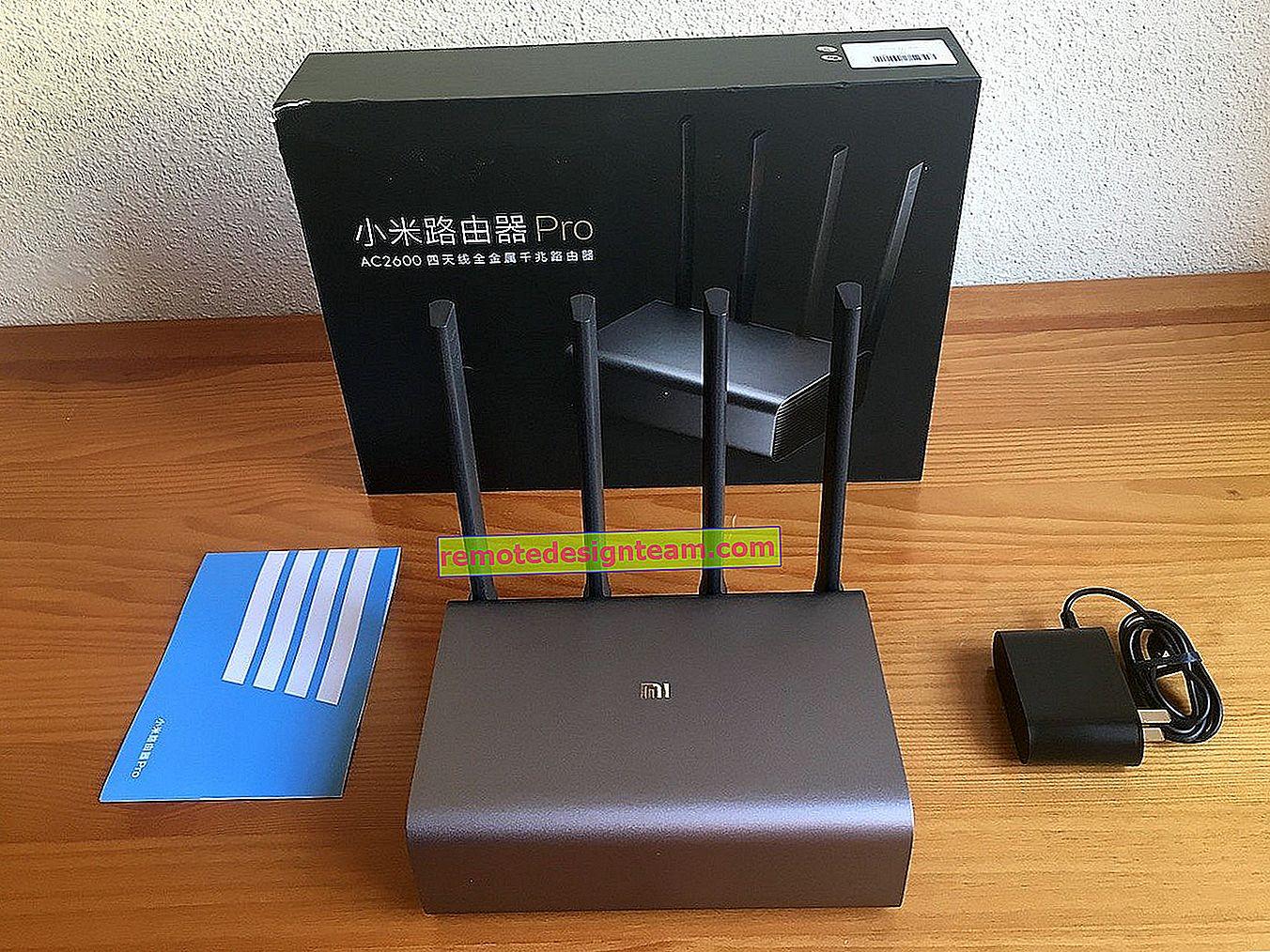 Collegamento e configurazione del router Wi-Fi Xiaomi Mi 3