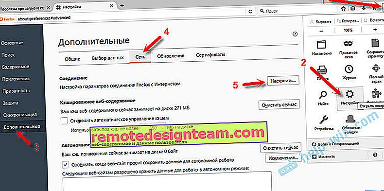 Configurazione di un server proxy in Firefox