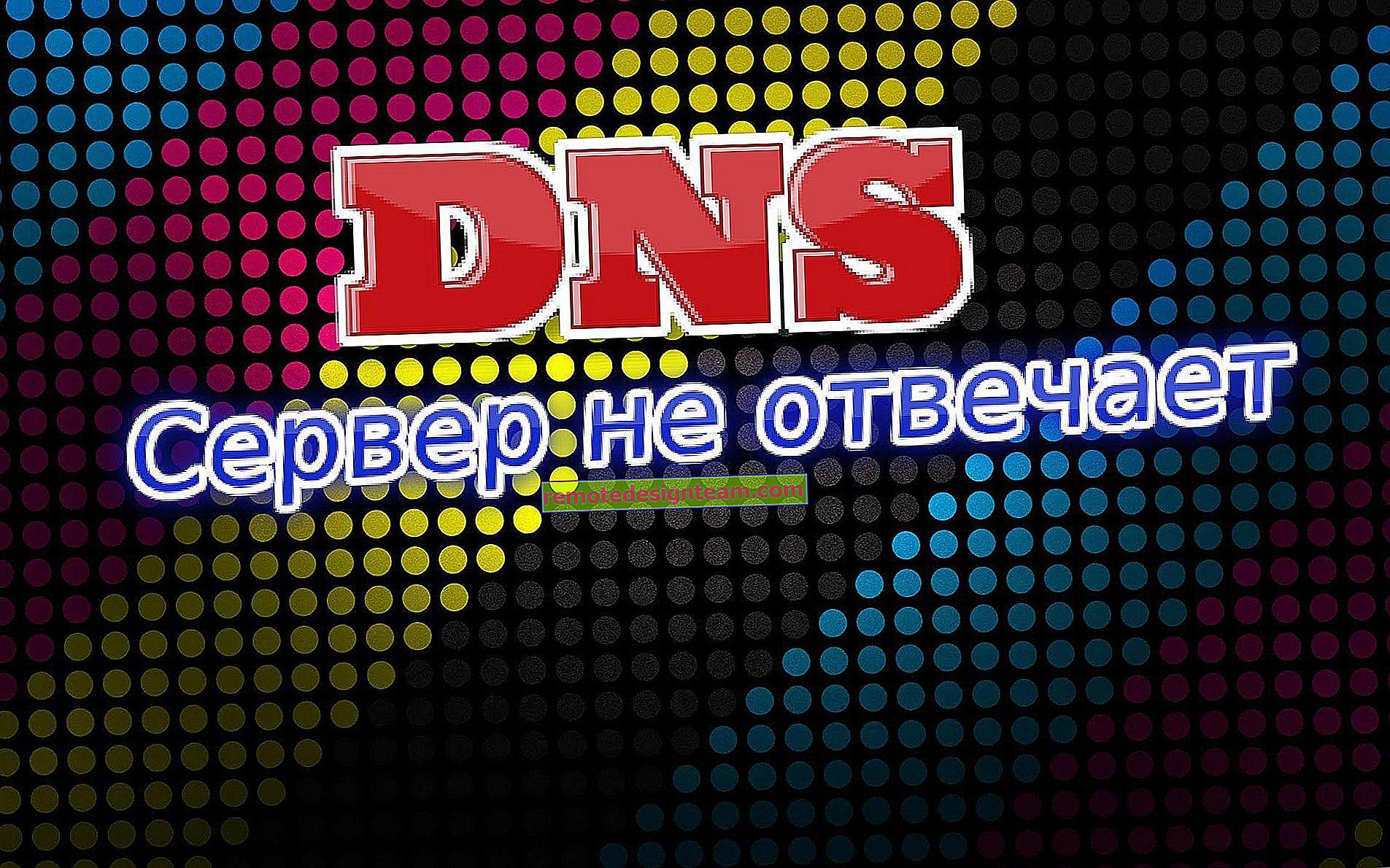 Serwer DNS nie odpowiada w systemie Windows 10, 8, 7. Co zrobić i jak to naprawić?