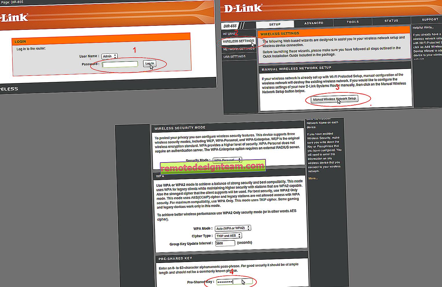 Настройване на Wi-Fi и задаване на парола (промяна на паролата) на безжичната мрежа на D-Link DIR-615