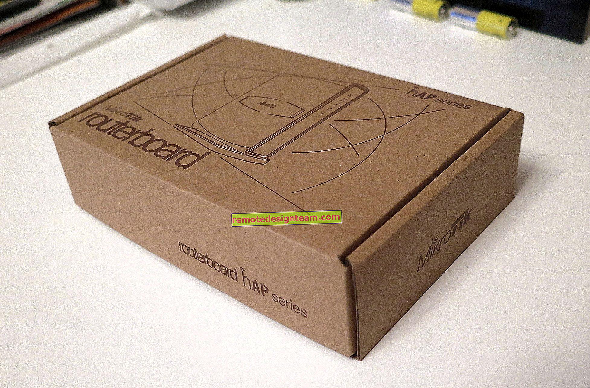 Konfigurasi router MikroTik hAP Lite TC