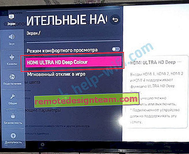 HDMI ULTRA HD Deep Colour в телевізорі LG