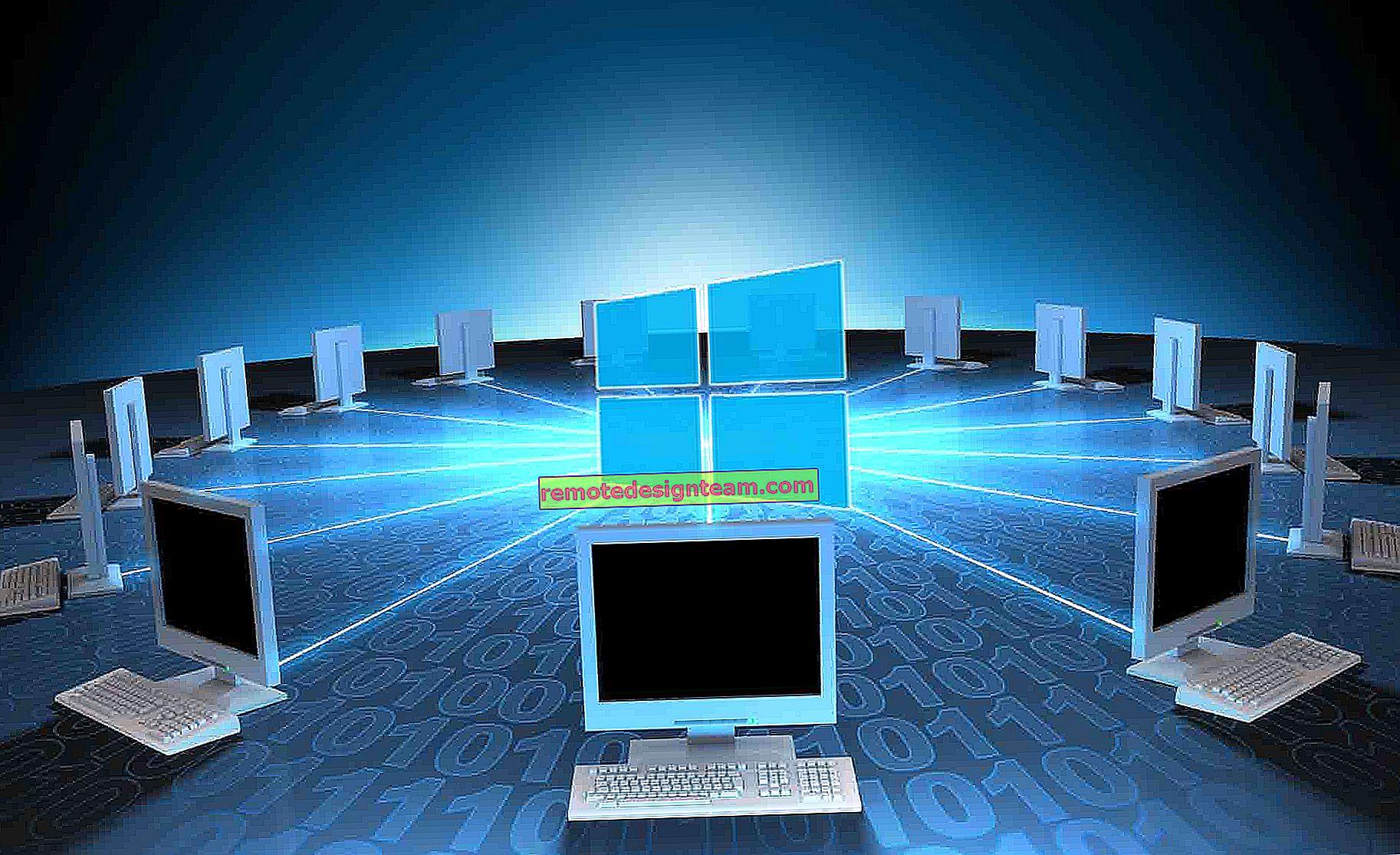 Windows 10 ve Windows 7 arasında Wi-Fi yönlendirici aracılığıyla ev ağı (ev grubu aracılığıyla)