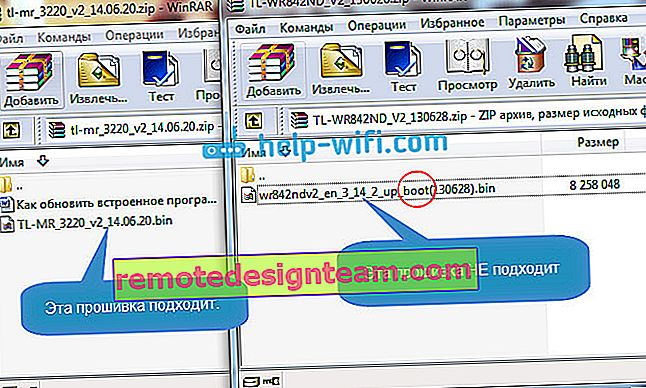 Download del firmware per ripristinare il router