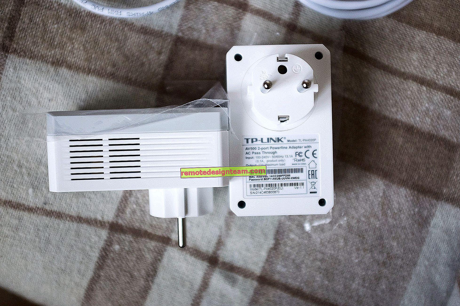 PowerLine adaptörü ile birden fazla IP kamera bağlama